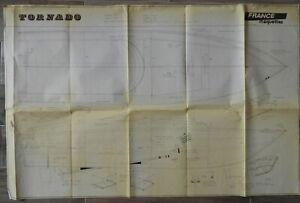 """PLAN DE MAQUETTE ancien (lot n°8) Vedette """"TORNADO"""""""