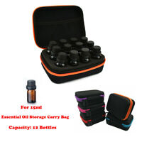 12 Bottle Essential Oil Carry Case 15ML Holder Storage Aromatherapy Hand Bag