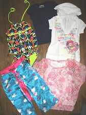 Girls huge lot All Justice 8 tankini tops shirts blouse hoodie pj bottoms Cute!