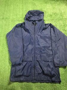 VTG Columbia Sportswear Blue Lightweight Hooded Anorak 70s Windbreaker Jacket S