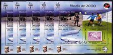 5 x Uruguay 1999 Block 89 ** Weltraum, Zeppelin Fußball