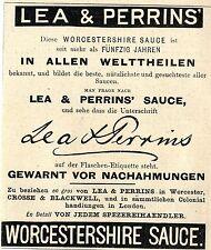 Lea & Perrins Worcester Worcestershire salsa storica La pubblicità di 1893