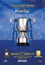 * 2013 CAPITAL ONE CUP FINAL PROGRAMME - BRADFORD CITY v SWANSEA CITY *