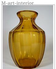 Haida, Böhmen, Vase Bernstein-Kristallglas 14 Facetten Bohemian Art Glass c 1930
