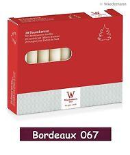20x Christbaumkerzen 96x13mm Farbe Bordeaux Rot Baumkerzen Kerzen Wiedemann