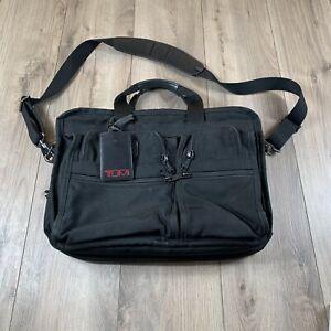 TUMI ALPHA Black Ballistic Nylon Expandable Briefcase LAPTOP Bag  26141DH