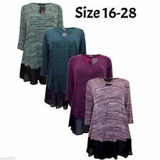 Scoop Neck Hip Length Classic Tops & Shirts Plus Size for Women
