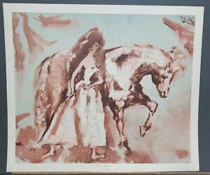 """Marcel Vertes Vintage Print """"After the Performance"""" 20""""×23.5"""" 1950's Penn Prints"""
