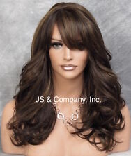Brown Strawberry mix HEAT SAFE Wavy Light Weight Wig Bangs Layered NGBY 4-27