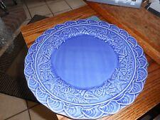 "Bordallo Pinheiro Blue Seashells 11 3/4"" Plates Chargers From Portugal"