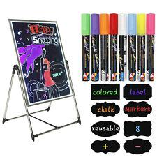 8 Liquid Chalk Markers (2 Tip Sizes) LED Chalkboard Marker Blackboard Pen Labels