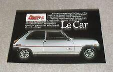 Renault 5 Le Car Brochure 1979
