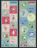 JAPAN 2018 Moomin For you Cartoon Stamp Mini S/S Sticker x 2 Stamp