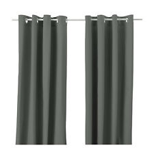 Thick Grey Curtains, Pair W145cm x L250cm Romantic Privacy - NEW