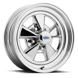 Cragar 1425857402B Series 08/61 S/S Wheel, 14x7 Inch, 5x4.0