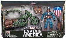"Marvel Comics 80th Anniversary Marvel Legends Captain America Motorcycle 6"" NIB"