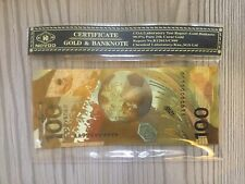More details for 24k gold russian 100 ruble bank note in case with coa