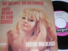 """7"""" Eveline und Klaus Mit dir spiel ich am liebsten & Vater werden - 1965 # 2309"""
