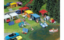 FALLER Camping Tents (8) and Accessories Model Kit IV HO Gauge 130504