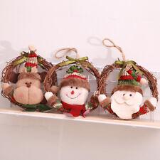 3x Christmas Tree Door Wall Hanging Wooden Wreath Garland Xmas Decor Ornament
