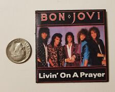 "Miniature record album Barbie Gi Joe 1/6   Playscale 2"" Bon Jovi Livin  Prayer"