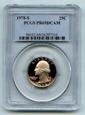 1978 S 25C Washington Quarter Proof PCGS PR69DCAM