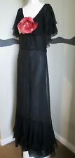 Vintage 1930s Dress Silk Chiffon Long Gown