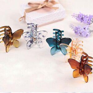 Butterfly Hair Claw Acrylic Hair Clip Plastic Hairpin Girls Women Barrette