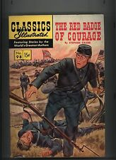 CLASSICS ILLUSTRATED #98 FN/VF ORIGINAL RED BADGE OF COURAGE