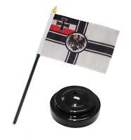 """German Germany Imperial World War 1 WWI Flag 4""""x6"""" Desk Set Black Base"""