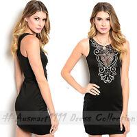 Sexy Little Black Dress Sleeveless Mini Bodycon Casual Evening Party Clubwear