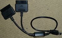 SONY PLAYSTATION 3 2 PS2 to PS3 TWIN PORT CONTROLLER ADAPTER USB CONVERTER CABLE