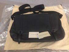 "Burberry ""Foster"" Black Leather Men's Messenger Bag, New With Tags and Dust Bag"