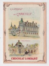 Chromo CHOCOLAT LOMBART CHATEAU DE CHANTILLY