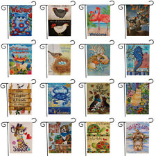 Animal Dog Cute Cat Garden Flag Double Sided House Yard Lawn Welcome Decorations