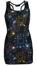 Women's Astrology Horoscope Star Sign Zodiac Symbols Alternative Print Long Top