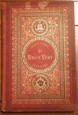 Livre Jules Verne illustré LE RAYON VERT XIX cartonnage aux initiales Bon état