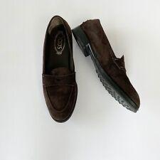 TOD's Designer Damen Halb Schuhe Loafers Velours Leder Gr 39,5 Braun