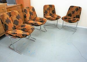 Set Of 4 Pieff Eleganza Chairs - Retro - Great Condition - Delivery Available