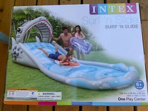 Intex Surf 'N Slide Inflatable Kids Backyard Water Slide & 120V Electric Pump