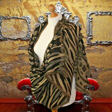 Ladies luxury leopard print wool scarf wool shawl in brown beige animal print