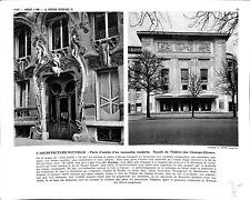 Architecture Art Floral Hector Guimard Nouveau IMAGE SCOLAIRE 1959 ILLUSTRATION