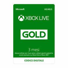 Microsoft Xbox Live Gold abbonamento 3 mesi 90 giorni codice Digitale da Italia