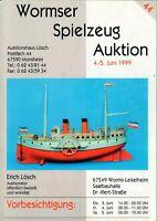 WORMSER SPIELZEUG AUKTION - Magazin Katalog Preise Sammler Juni 1999 - B15078