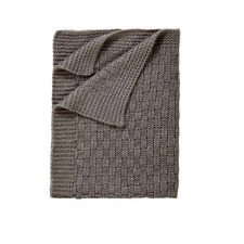 Brand new in pack Clair de lune Sparkle chunky knit blanket in Grey 70 x 90cm