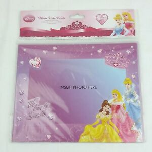Disney Princess 6 Photo Note Cards & Envelopes Holds a 4x6 Picture #58405