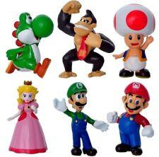Super Mario Bros. 6pc Action Figure Toys Cake Topper Decor Kids Xmas Gift Luigi