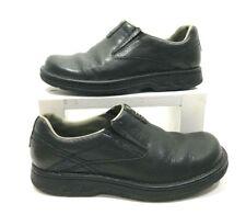 Merrell WORLD LEGEND men's Shoes Black Leather Slip On Sz. 7 EXCELLENT