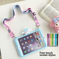 "Cute Dog With Big Ears Silicone Stand Case Cover For iPad 2 3 4 9.7"" 2017 / 2018"