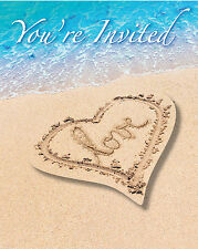 Wedding abroad Beach Party bridal Shower Hawaiian Beach theme party Invitations